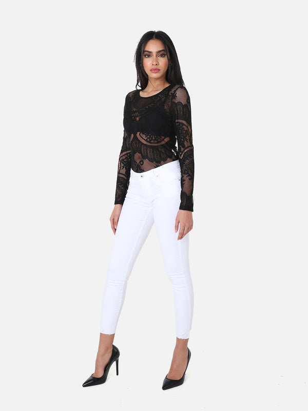 Skinny Crop Jeans White