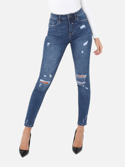 Skinny High Waist Destroyed Jeans