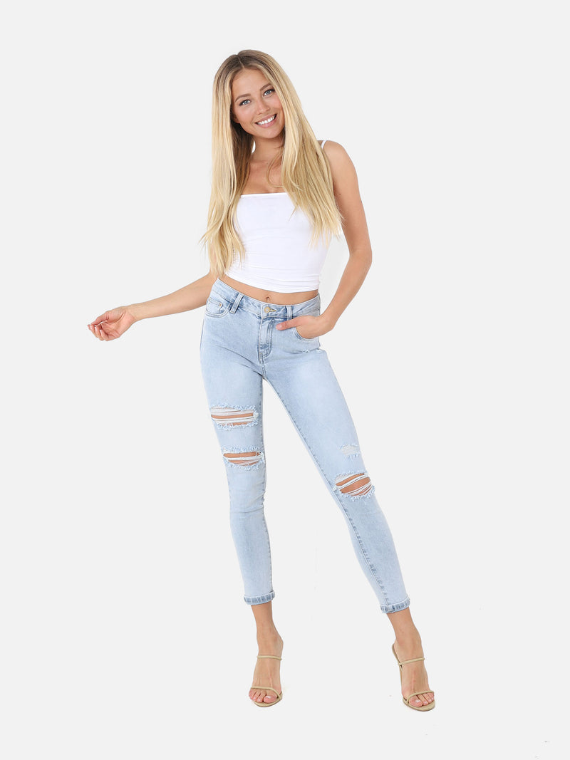 Skinny Destroyed Jeans