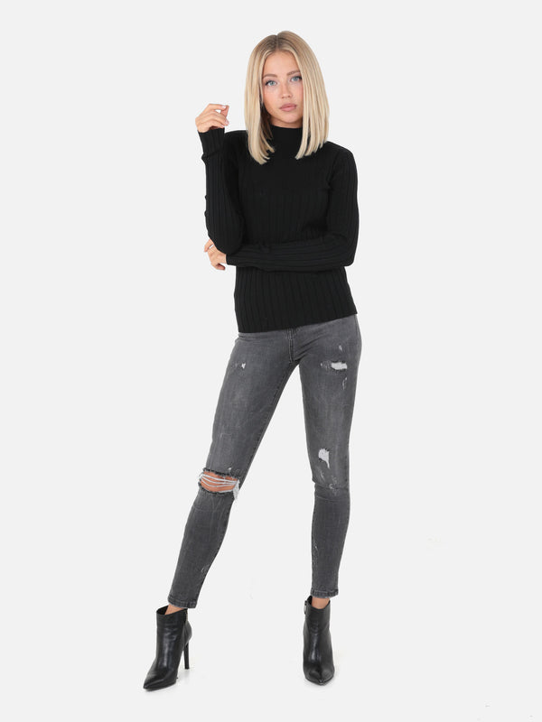 Skinny High Waist Jeans - Anthrazit