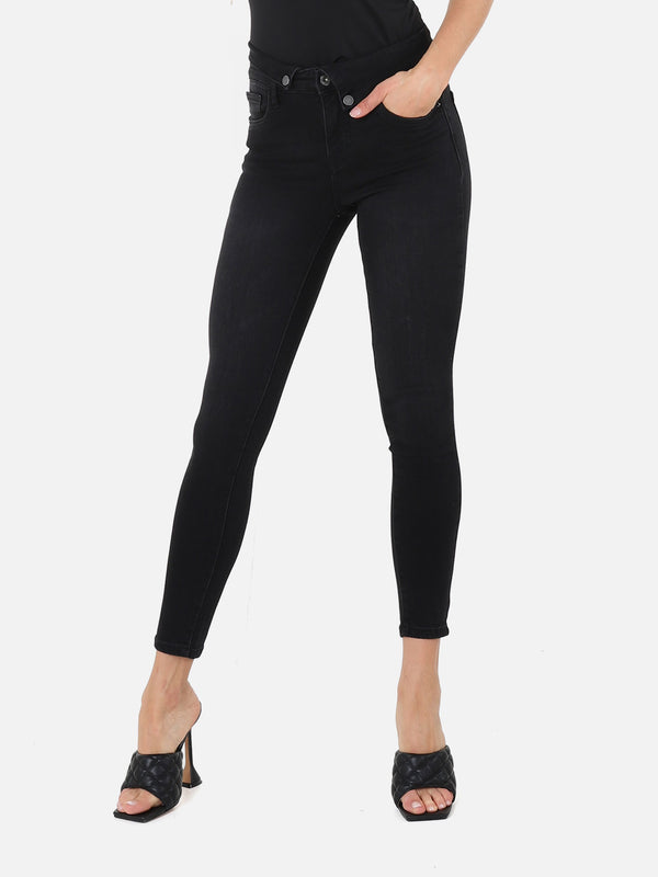 Skinny High Waist Jeans - Black