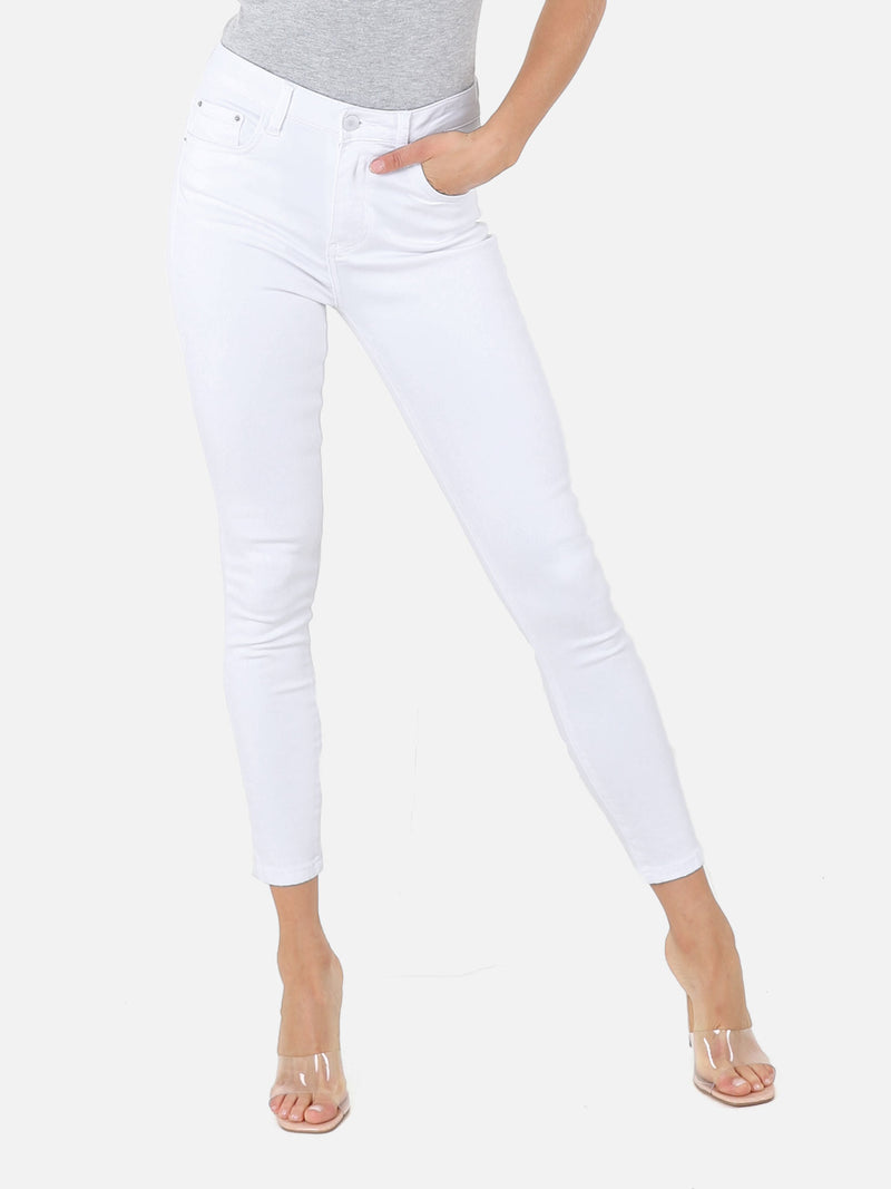 Skinny High Waist Jeans - White