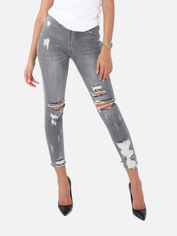 Trashed Jeans - Grey