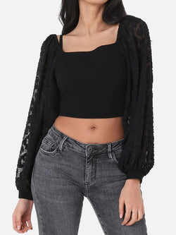 Volant Crop Top