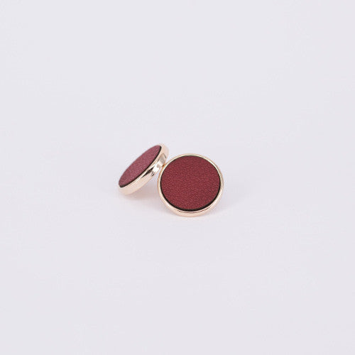 HALO EARRINGS - Burgundy