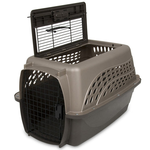 Petmate 2 Door Top Load Plastic Crate For Dogs and Cats 24 inches
