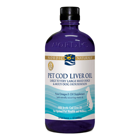 Nordic Naturals Pet Cod Liver Oil  Medium to Large Breed Dogs 8oz