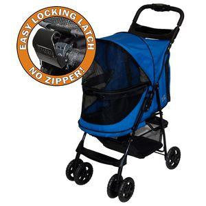 PetGear Happy Trails No-Zip Stroller for Dogs and Cats