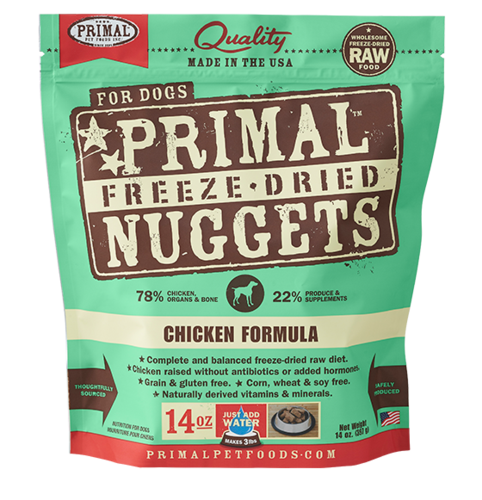 Primal Freeze Dried Raw Dog Dinners 14oz