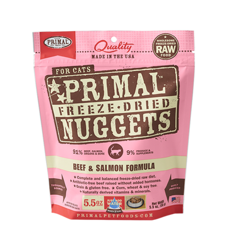 Primal Freeze Dried Raw Cat Dinners 5.5oz
