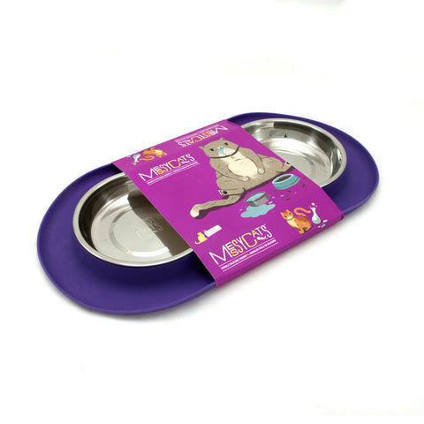 Messy Mutts Double Silicone Feeder For Cats and Dogs