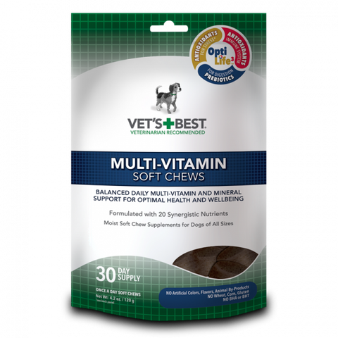 Vet's Best Dog Multi-Vitamin Soft Chews Supplement