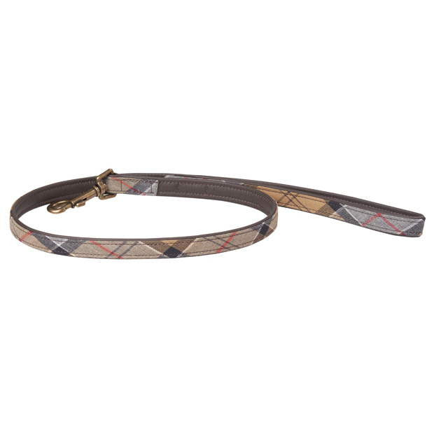 Barbour Tartan Cotton and Leather Leash