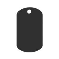 Anodized Aluminum GI Dog Tag
