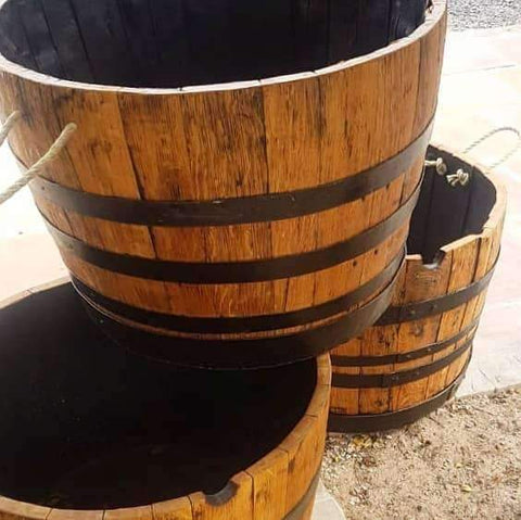 Brandy / Wine / Bourbon 'Oak Barrels' - Half Height - Wood Monkeys