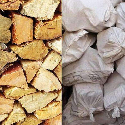 Blue Gum Firewood - Order per 5 or more Large Bulk Bags - Wood Monkeys SA
