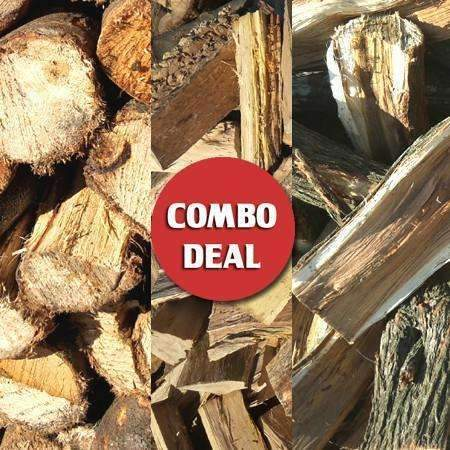 Combo - Trio 600 piece Wattle/Krans/Gum Bulk Firewood Deal - Wood Monkeys