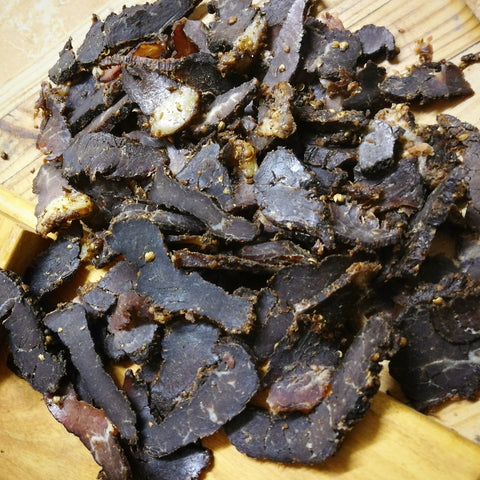 Premium Quality Beef Biltong - Order per 1KG or more (Sliced) - Wood Monkeys SA (5160948269190)