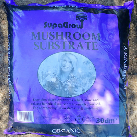 Gardening - SupaGrow 30dm3 Mushroom Compost - Order per 5 Bags - Wood Monkeys
