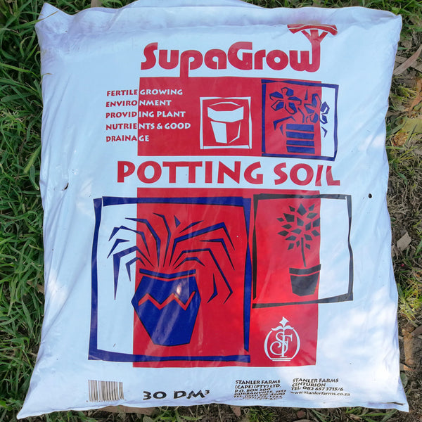 Gardening - SupaGrow 30dm3 Potting Soil - Order per 5 Bags - Wood Monkeys