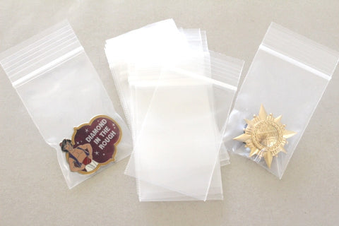 New Plastic Bags for Pin Storage - 20 quantity