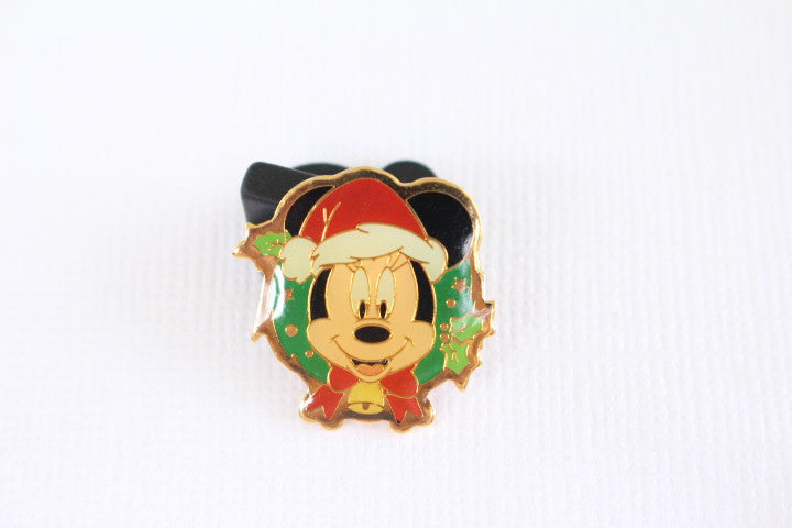 Mickey Christmas Wreath Tiny Pin