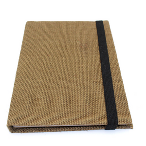 Dyed Burlap Journal