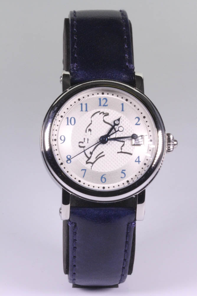 Tintin Self Winding Watch Navy Blue Strap