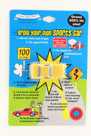 Grow Your Own Yellow Sports Car