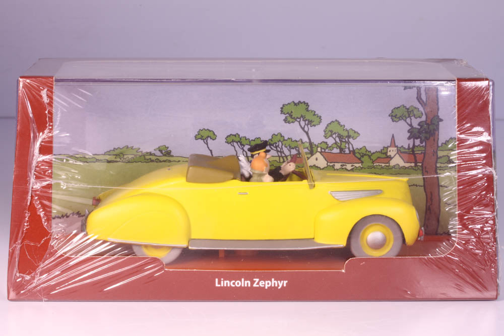 Lincoln Zephyr Die Cast Car From Tintin and the Seven Crystal Balls