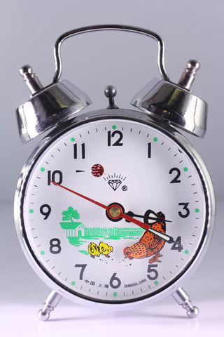 Diamond Shanghai Windup Pecking Chicken Clock