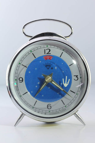 Diamond Shanghai Windup Comet Clock Yellow