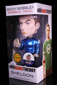 Funko Wacky Wobbler Bobble Head, The Big Bang Theory, Sheldon Metallic Star Trek Chase