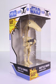 Funko Wacky Wobbler Bobble Head, Star Wars, The Clone Wars, Battle Droid, Chrome Base Chase