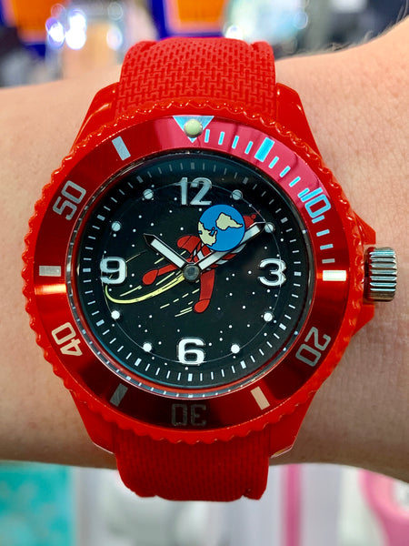Tintin, Moon Rocket Watch, Red Band, Small