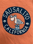 Kid's Sausalito Pelican Long Sleeve T Terra Cotta
