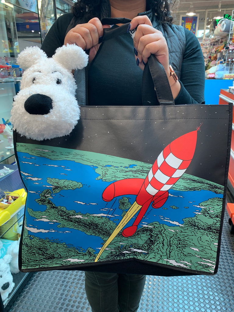 Tintin Rocket Waterproof Handle Tote