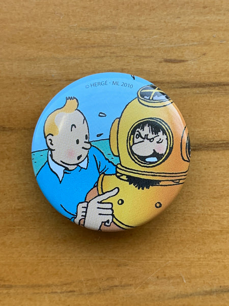 Captain Haddock Has A Diving Helmet Mishap Button