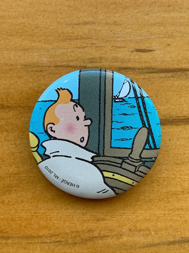 Tintin at the Helm Button