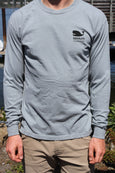 Sausalito Gummy Whale Men's Long Sleeve T Grey