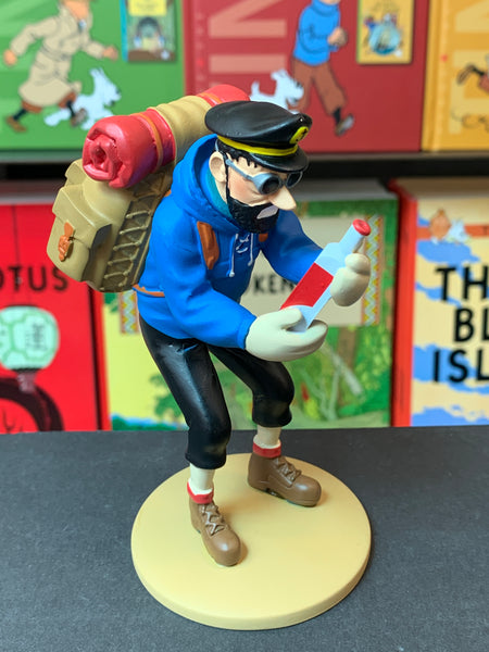 Captain Haddock With Empty Bottle Resin Figure From Tintin in Tibet