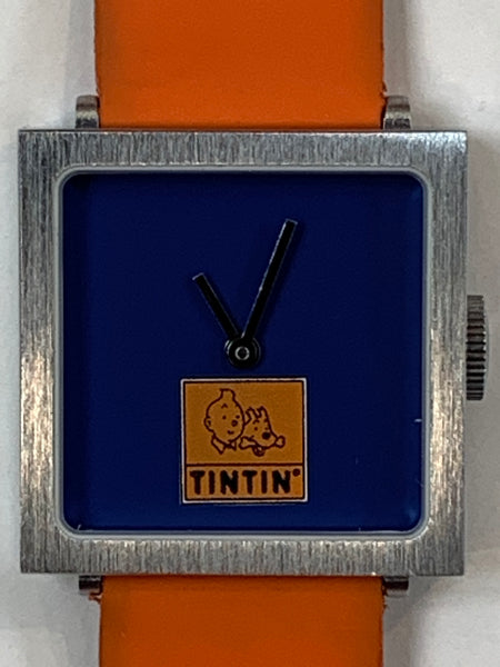 Tintin Square Orange Band Watch