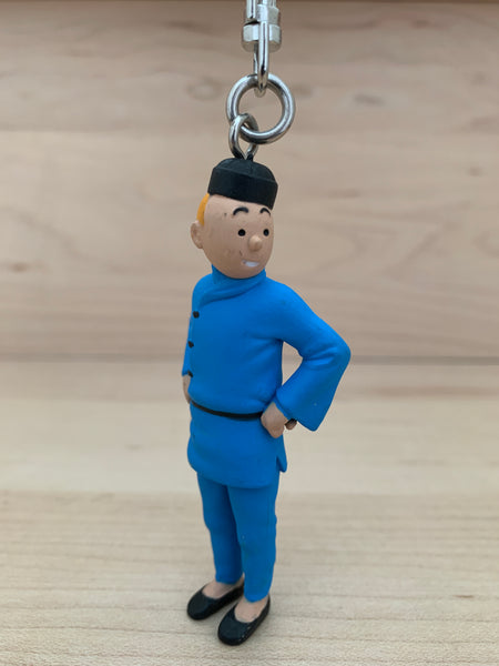 Tintin Blue Lotus Keychain Mini Figure