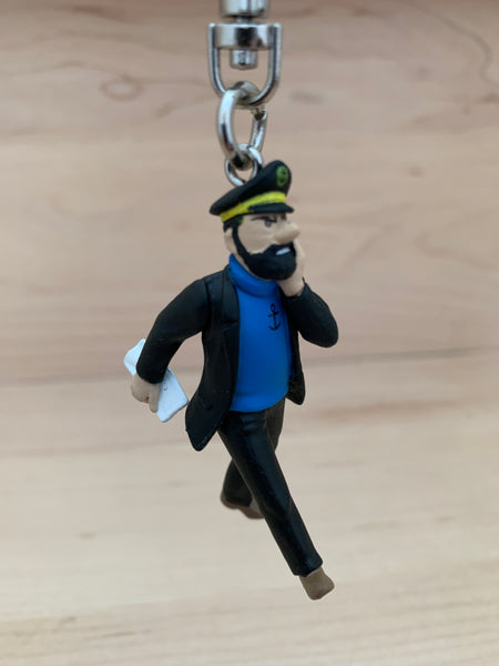 Captain Haddock The News Hits You Mini Figure Keychain 6cm