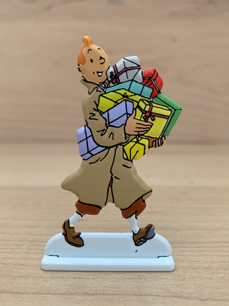 Tintin Christmas Metal Relief Figure 2002