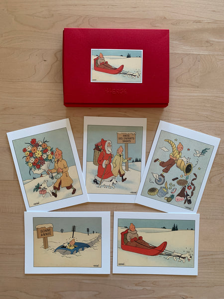 Tintin Christmas Card Box Set