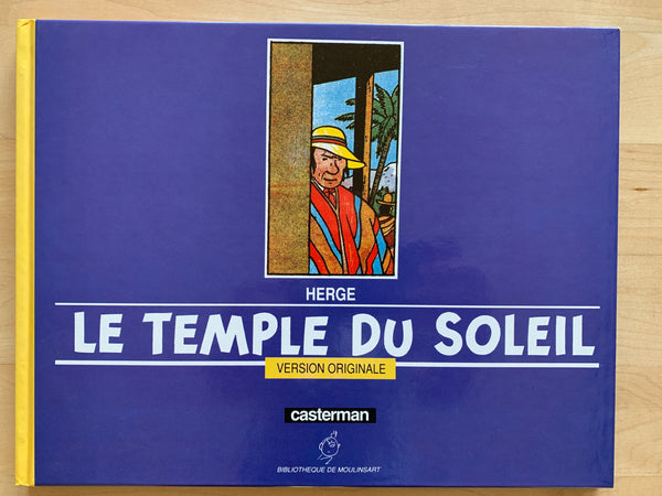 Herge Le Temple Du Soleil Version Originale Casterman 1988