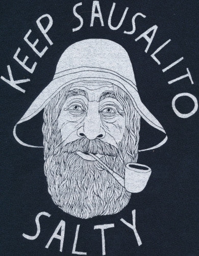 Navy Blue Keep Sausalito Salty Hooded Sweat