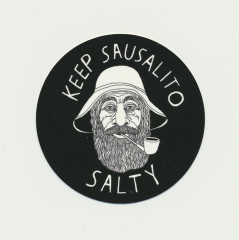 Keep Sausalito Salty Sticker 3""