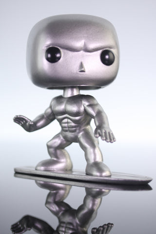 Funko Pop Marvel, Marvel Universe, Silver Surfer Bobble Head #19